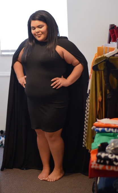 Ari in the Black Caped Dress. Photo by @sbyr_photography